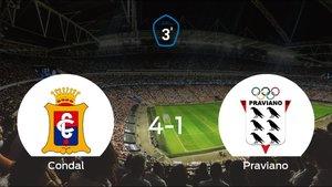 Sólido triunfo para el equipo local: Condal 4-1 Praviano