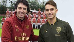 Unai Emery dio la bienvenida a Denis Suárez