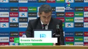 Valverde analiza el empate ante el Espanyol