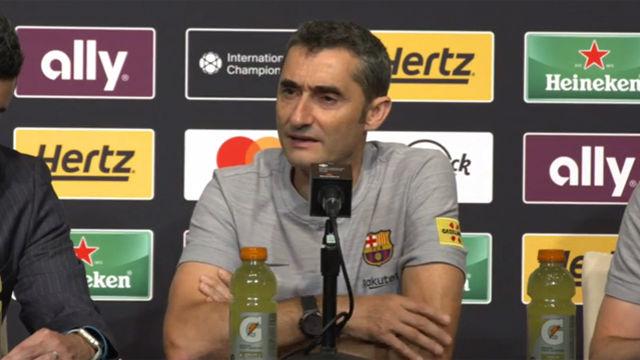 Valverde: Estoy encantado con Rafinha y le veo muy implicado