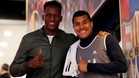 Yerry Mina y Jeison Murillo, en el Camp Nou