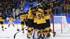 Alemania celebra sobre el hielo su pase a la gran final olímpica