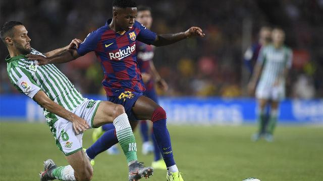Ansu Fati, el segundo jugador más joven en debutar con el Barça