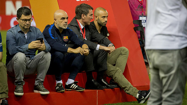 Así abandonó Mascherano el Vicente Calderón