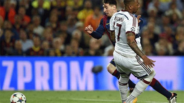 Así fue la rotura de cintura de Messi a Boateng