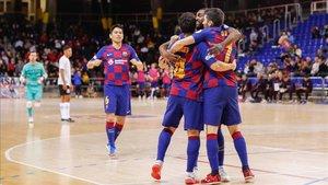 El Barça derrotó al Corinthians en el Palau