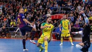 Barça Lassa y Jaén durante un encuentro de liga