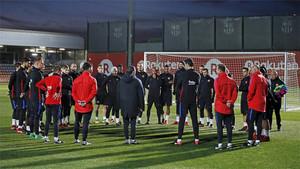 El Barça preparó el duelo copero ante el Celta