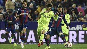 El Barcelona lo pasó mal ante el Levante