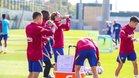 El Barcelona prepara el partido ante el Ferencvaros