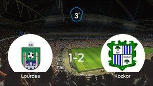 El Beti Kozkor se lleva el triunfo después de vencer 1-2 al Lourdes