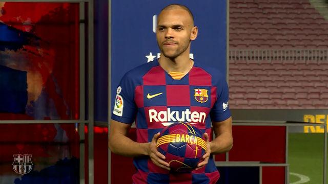 Braithwaite ya luce los colores del Barça