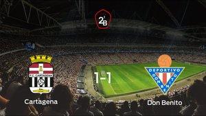 El Cartagenay el Don Benitose reparten los puntos en el Cartagonova (1-1)