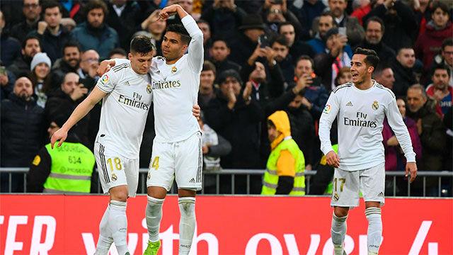 Casemiro dio la victoria al Real Madrid con un doblete