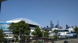 Cielo despejado en Melbourne Park este jueves
