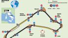 El circuito de Monza del GP de Italia de F1