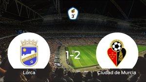 El Ciudad de Murcia logra una ajustada victoria ante el Lorca (1-2)