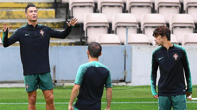 Cristiano se prepara con Portugal para enfrentarse a Suiza