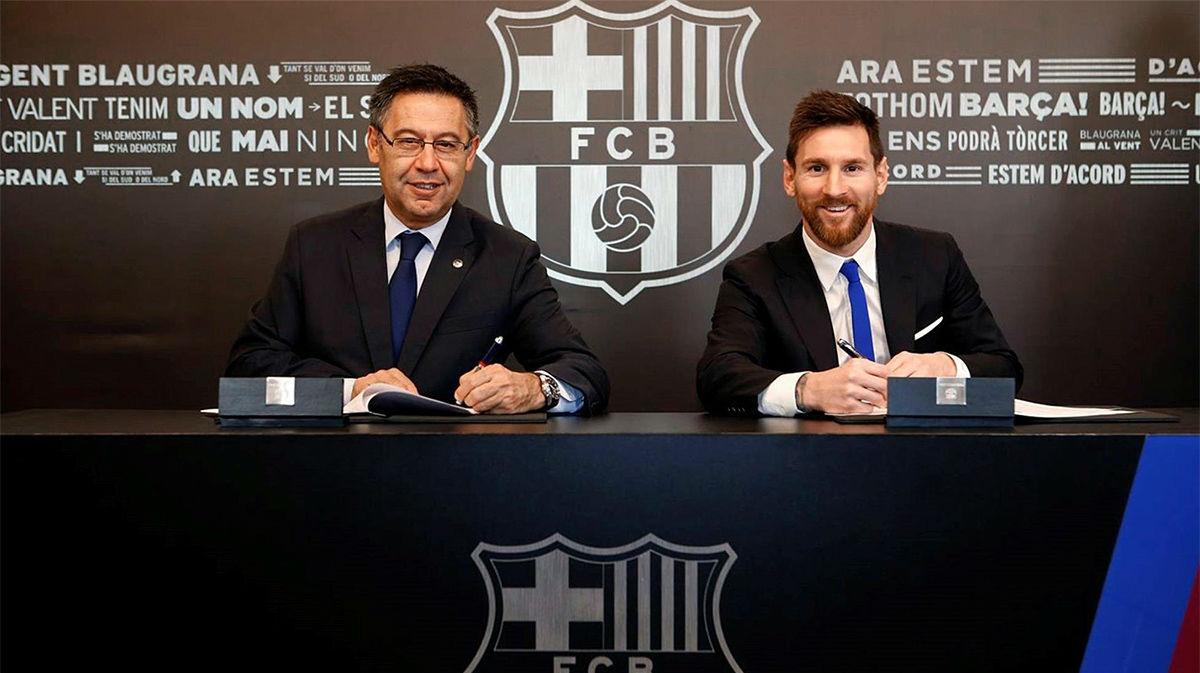 Espadas en alto entre Messi y la junta directiva del FC Barcelona
