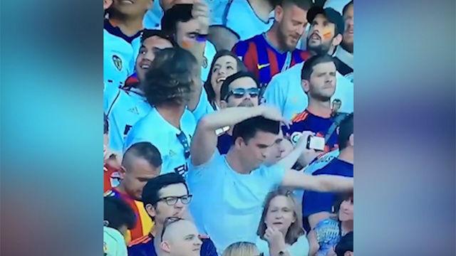 El fan viral de Bisbal que lo dio todo en la actuación previa de la final de la Copa