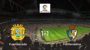 El CF Fuenlabraday la SD Ponferradinase reparten los puntos y empatan 1-1