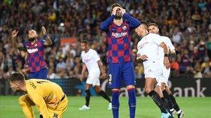 Gerard Piqué vio la quinta cartulina amarilla en lo que llevamos de LaLiga Santander