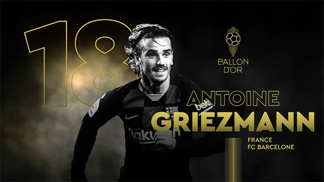 Griezmann, 18 en la lista del Balón de Oro
