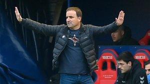 Jagoba Arrasate, técnico de Osasuna, afronta muy tranquilo el partido contra el Barça