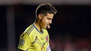 James Rodríguez podría perderse el duelo ante Perú