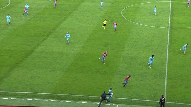 LALIGA 123 | Sporting de Gijón - FC Barcelona B (2-3): La acción de la expulsión de Baraja