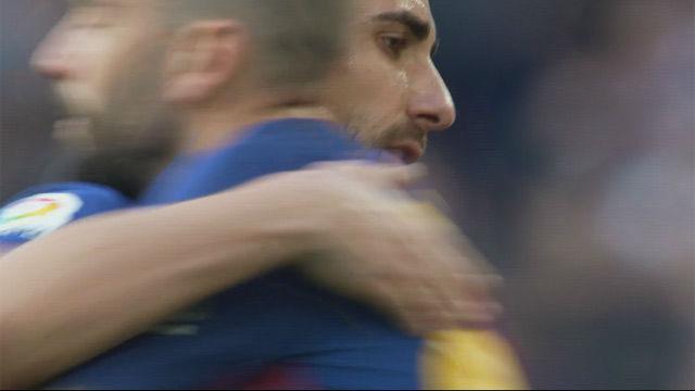 LALIGA   FC Barcelona - Athletic (2-0): Aleix Vidal sustituyó al goleador Alcácer