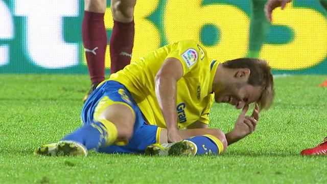 LALIGA | Las Palmas - Eibar (1-2): Lesión de Samper