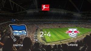 El RB Leipzig se queda con los tres puntos tras ganar 2-4 al Hertha BSC