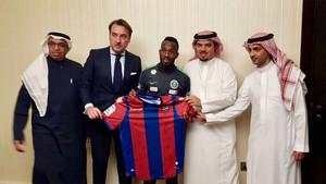 El Levante anunció de esta guisa el fichaje de un jugador saudí
