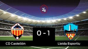 El Lleida Esportiu vence 0-1 frente al Castellón