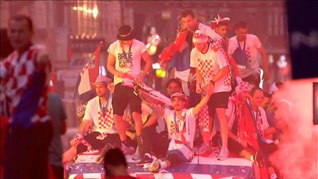 Los jugadores de Croacia, recibidos como héroes en Zagreb