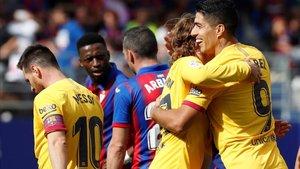 Luis Suárez, Griezmann y Messi vieron puerta