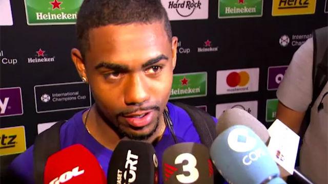 Malcom, contento con su debut con el Barça
