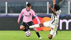Pedri brilló ante la Juventus