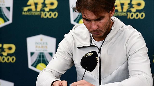 Rafa Nadal se retira por problemas físicos de las semifinales del Masters de París-Bercy