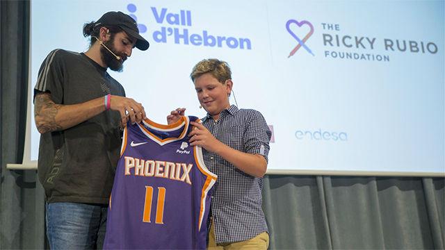 Ricky Rubio llevará a niños con cáncer a ver partidos de la NBA
