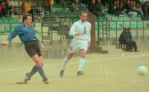 Sandro Rosell en un partido del año 1998 cuando jugaba en el CE Principat