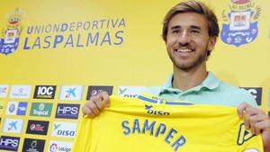 Sergi Samper jugará esta temporada en la UD Las Palmas cedido por el FC Barcelona