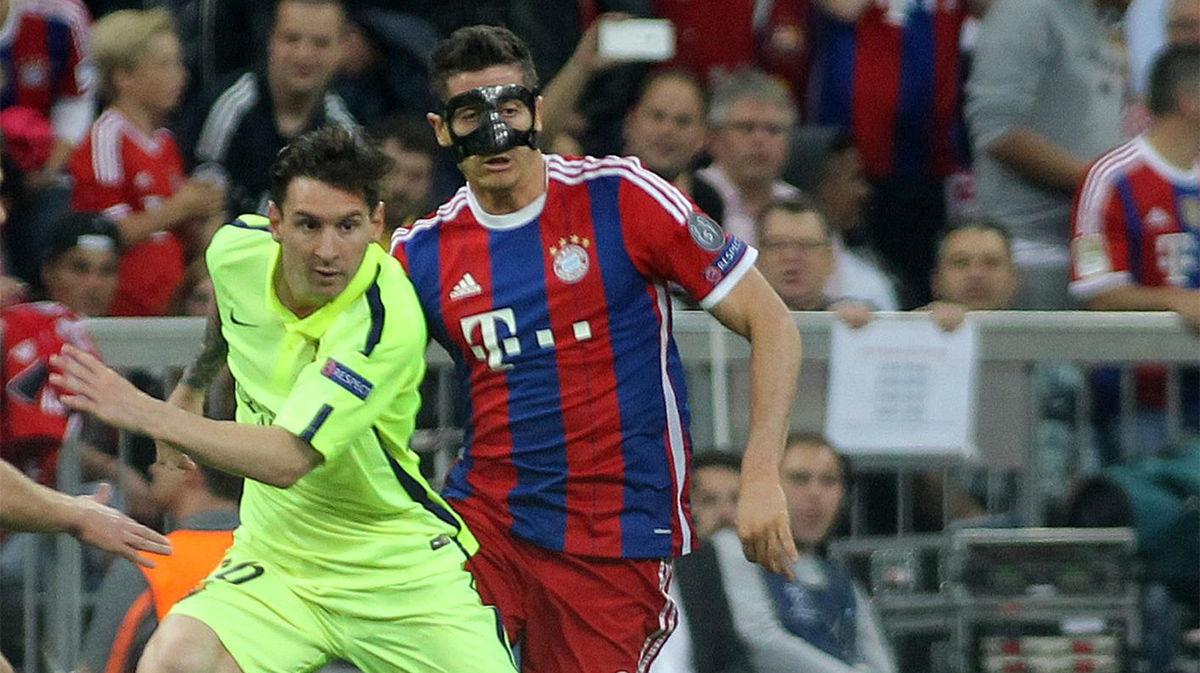 Setién: Lewandowski no está a la altura de Messi
