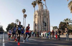 Sevilla disfrutó de la fiesta del maratón
