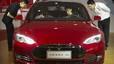 El Model S de Tesla en el Salón del Automóvil de Pekín.