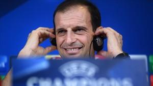 Allegri analizó el partido entre la Juventus y el Barça