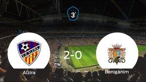 El Alzira suma tres puntos tras vencer 2-0 al Benigànim