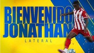 Así anunció la UD Las Palmas la semana pasada la incorporación de Jonathan Silva