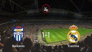 El At. Baleares y el RM Castilla se reparten los puntos tras su empate a uno